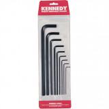 KENNEDY 1.5-10 mm hosszú szárú hatszögkulcs készlet, 9 részes