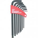 KENNEDY A/F colos gömbvégű hatszögkulcs készlet, 9 darabos
