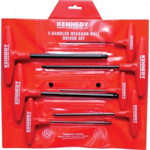 KENNEDY Metrikus T-nyelű gömbvégű hatszögkulcs készlet, 7 darabos termék fő termékképe