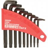 KENNEDY T8 - T40 L-alakú furatos Torx kulcs készlet, 9 darabos