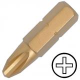 """KENNEDY No.4 kereszthornyos titán csavarhúzó bit 5/16"""" hatszög illesztéssel, 30 mm, 5db/csomag"""