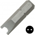 """No.12 kulcs csavarbehajtó bit 1/4"""" hatszög illesztéssel, 25 mm, 10 db"""