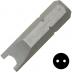 """No.8 kulcs csavarbehajtó bit 1/4"""" hatszög illesztéssel, 25 mm, 10 db"""