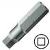 """No.4 négyszög csavarbehajtó bit 1/4"""" hatszög illesztéssel, 25 mm (10 db)"""