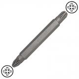 """KENNEDY Pozidriv No.1 és No.2 kétvégű csavarhúzó bit 1/4"""" hatszög befogással, 60 mm, 5db/csomag"""