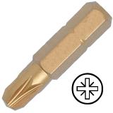 """KENNEDY No.4 Pozidriv titán csavarhúzó bit 5/16"""" hatszög illesztéssel, 30 mm, 5db/csomag"""