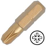 """KENNEDY No.2 Pozidriv titán csavarhúzó bit 5/16"""" hatszög illesztéssel, 30 mm, 5db/csomag"""