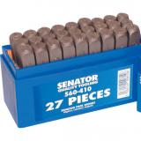 SENATOR 4.0 mm betű beütő készlet, 27 részes
