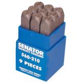 SENATOR 3.0 mm szám beütő készlet, 9 részes