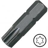 """KENNEDY TX6 Torx csavarhúzó bit 1/4"""" hatszög illesztéssel, 25 mm, 10db/csomag"""