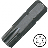 """KENNEDY TX27 Torx csavarhúzó bit 1/4"""" hatszög illesztéssel, 25 mm, 10db/csomag"""