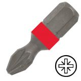 """KENNEDY No.2 Pozidriv csavarhúzó bit 1/4"""" hatszög illesztéssel, 25 mm, 10db/csomag"""
