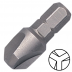 """No.0 Tri-Wing csavarbehajtó bit 1/4"""" hatszög illesztéssel, 25 mm (5 db)"""