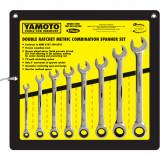 YAMOTO 8 - 19 mm racsnis csillag-villáskulcs készlet, 8részes