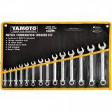 YAMOTO 6 - 19 mm ipari csillag-villáskulcs készlet, 14részes