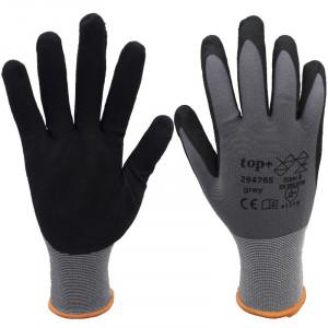 TOP 29476S szemcsés habosított nitril habbal mártott nylon/spandex védőkesztyű termék fő termékképe