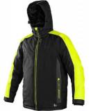 CXS Brighton bélelt kabát fekete/citrom