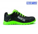 Sparco Practice fekete-fluozöld munkavédelmi cipő S1P
