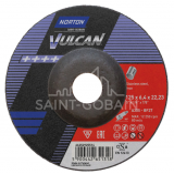 Norton Vulcan Inox Tisztítókorong 125x6,4x22,23mm, 10 db/csomag