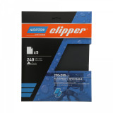 Norton Clipper vízálló csiszolólap 5 db 230x280 mm P240, 10 db/csomag