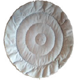 Ritkán varrott fehér flanel 200*20*10 mm