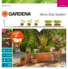 GARDENA Micro-Drip-System induló- és bővítő készletek cserepes növényekhez, növénysorokhoz és ágyásokhoz