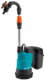Gardena 2000/2 akkumulátoros hordóürítő szivattyú tiszta vízhez (1 x 2.5 Ah P4A Li-ion akkuval)
