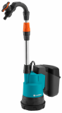 Gardena 2000/2 akkumulátoros hordóürítő szivattyú tiszta vízhez (akku és töltő nélkül)