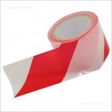 közúti jelzőszalag piros-fehér 100m
