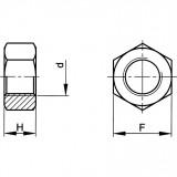 M2.5 HATLAPÚ ANYACSAVAROK (8)1 DB / CSOMAG