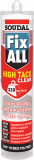 Soudal Fix ALL® High Tack Clear tömítő-ragasztó, 290 ml