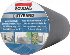 Soudal Butyband öntapadó tömítőszalag, 30 cm x 10 m termék fő termékképe