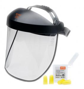 Arc- és hallásvédő kombináció rövid műanyag lappal termék fő termékképe