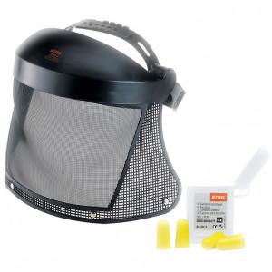 Arc- és hallásvédő kombináció műanyag védőráccsal termék fő termékképe
