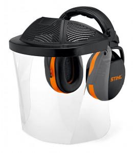 Arc- és hallásvédő polikarbonát ellenzővel termék fő termékképe