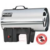 EINHELL GE-HG 18/370 Niro Li-Solo D/AT akkumulátoros gázos hőlégbefúvó (akku és töltő nélkül)