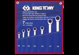 King Tony 7 részes csillag-villáskulcskészlet 10-19 mm