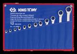King Tony 12 részes racsnis csillag-villáskulcskészlet 8-24 mm