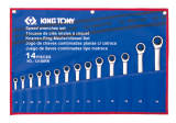 King Tony 14 részes racsnis csillag-villáskulcskészlet 8-24 mm