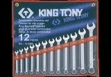 King Tony 12 részes csillag-villáskulcskészlet 8-22 mm