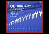 """King Tony 13 részes csillag-villáskulcskészlet 1/4"""" - 1"""" collos"""