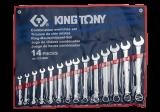 King Tony 14 részes csillag-villáskulcskészlet 10-32 mm