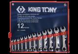 King Tony 12 részes csillag-villáskulcskészlet rövid 8-19 mm