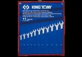 King Tony 11 részes csillag-villáskulcskészlet ultrakönnyű, hosszú 8-24 mm