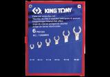 King Tony 6 részes fékcsőkulcskészlet 8-22 mm