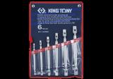 King Tony 6 részes kettős csuklós dugókulcskészlet
