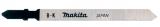 Makita Szúrófűrészlap gumira, bőrre 75 mm/B-K