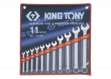 """King Tony 11 részes csillag-villáskulcskészlet 1/4"""" - 15/16"""" collos"""