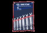 King Tony 6 részes villás-dugókulcskészlet 10-19 mm
