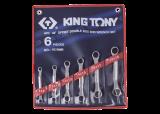 King Tony 6 részes csillagkulcskészlet mini 45° 8-19 mm
